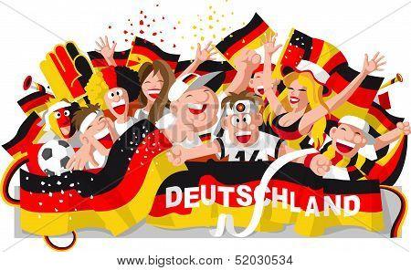 German soccer fans