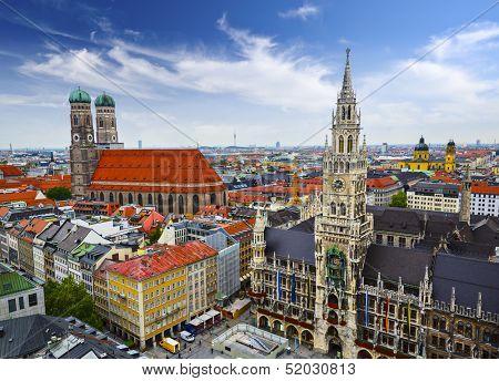 Munich, Germany skyline at City Hall.