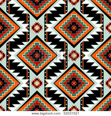 Traditional First nations clothing seamless pattern