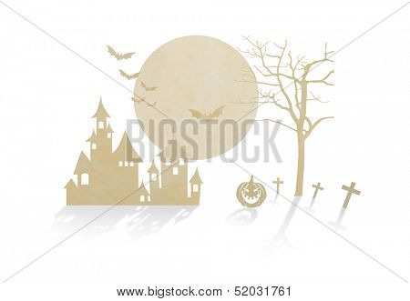Paper cut of halloween
