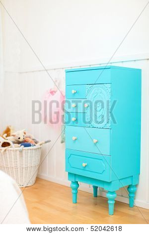 Details of a beautifully decorated little girl room