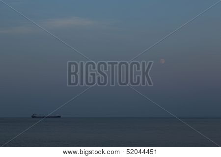 Ship On Lake Superior Night