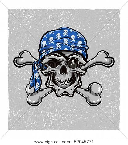 Skallywag Pirate Skull. Vector eps8