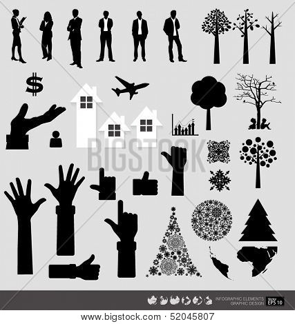Vector Decorative Wall Stickers For Your office's Interiors. (easy to make your own wall stickers)