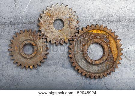 Three Rusty Gears