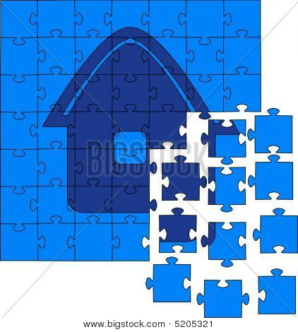 Not Collected Puzzles. Vector Illustration