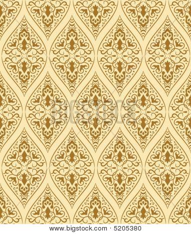 Brown Seamless Pattern. Vector Illustration