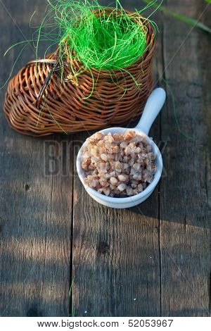 Boiled Buckwheat And Wicker Toy Clog
