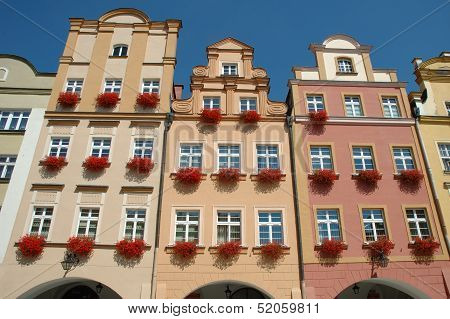Buildings On Marketplace In Jelenia Gora City