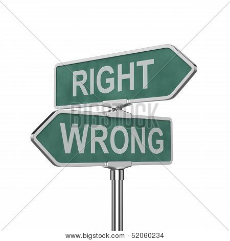 Right And Wrong Concep