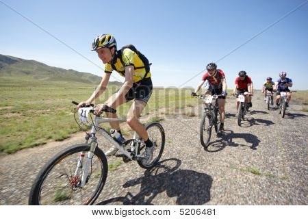 Adventure Mountain Bike Maranthon In Desert Mountains
