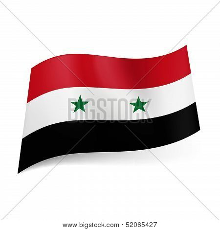 State flag of Syria.