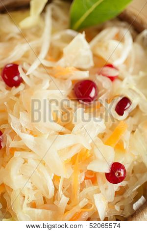 sauerkraut - Sour cabbage with cranberry  bay leaves