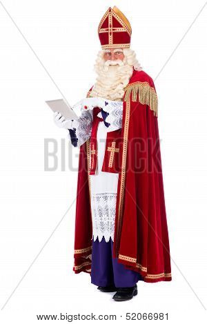 Sinterklaas With A Tablet