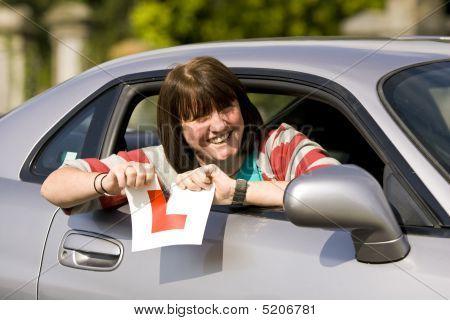 Women Passes Driving Test