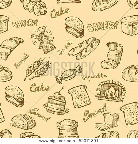hand drawn bakery