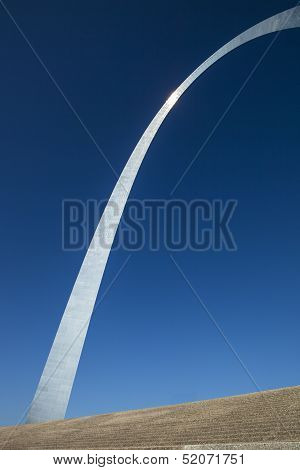 The steps and the Gateway Arch