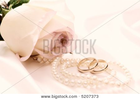 Rose, Pearls And Wedding Rings