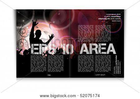 Magazine design. Vector