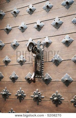 Close-up Of Vintage Wooden Entrance