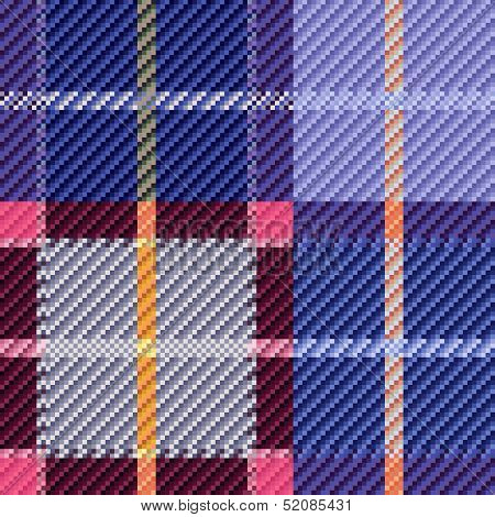 Blue And Pink Seamless Checkered Pattern