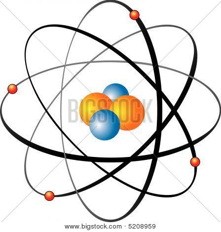 Atom orbits.