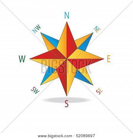 Multicolor Star Compass.