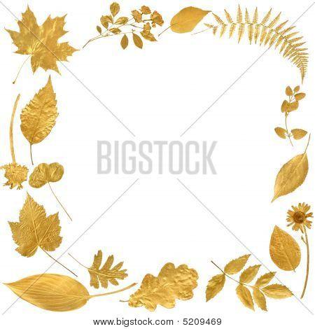 Golden Leaf Border
