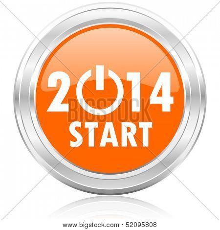 icono de nuevo año 2014