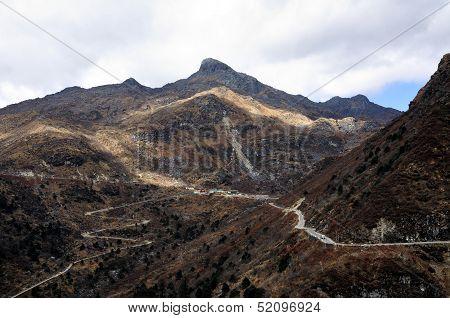 Road Through Mountain Range, Sikkim