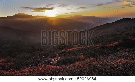 Sunrise Over Valley, Sikkim