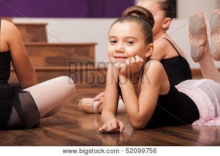 Taking a break in dance class