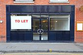 stock photo of premises  - Vacant retail shop to let in London - JPG