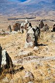 picture of megaliths  - standing menhirs of Zorats Karer  - JPG