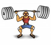 stock photo of emaciated  - man lift a weight apparatus athlete barbell - JPG