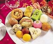 picture of laddu  - A group of delicious - JPG