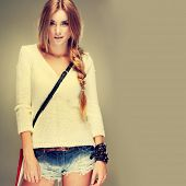 picture of bangles  - A photo of beautiful girl is in fashion style - JPG