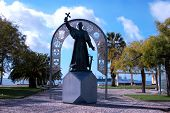 pic of patron  - Statue of St Francisco Xavier the patron saint of Setubal - JPG