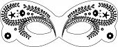 picture of masquerade mask  - Venetian masks XXL size decorated with floral ornaments - JPG