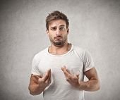 stock photo of unbelievable  - portrait of young man without faults - JPG