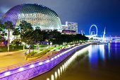 stock photo of singapore night  - Singapore city at night - JPG
