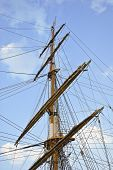 image of big-rig  - The big very Old sailing boat rigging - JPG