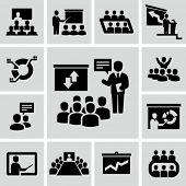 stock photo of seminar  - Conference icons - JPG