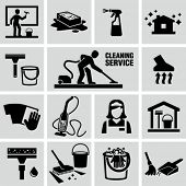 stock photo of scrubs  - Cleaning icons - JPG