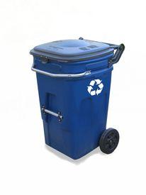 foto of recycle bin  - blue recycling bin - JPG