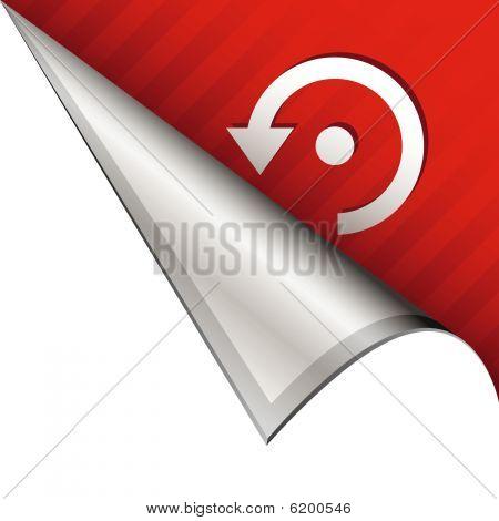 Refresh icon on peeling corner tab