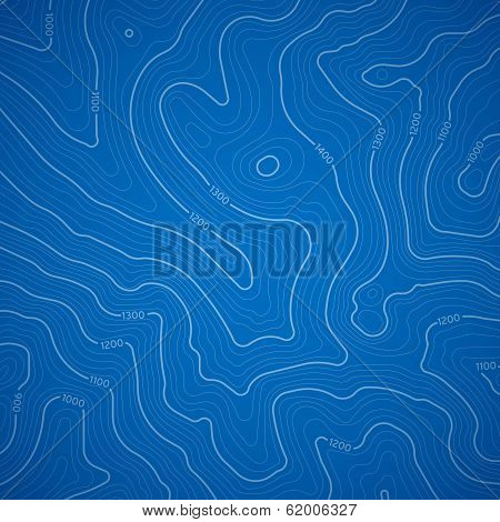 Blue Topographic Background