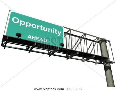 Isolated Opportunity Highway Sign
