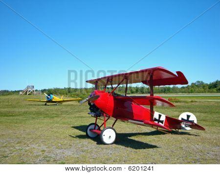 Antique World War I Biplane