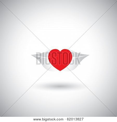 Concept Vector Of Love - Heart Shape On Woman's Lips.